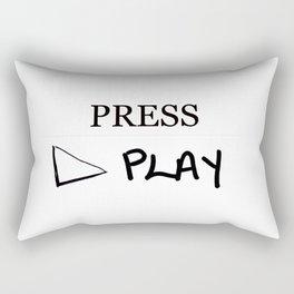 Press Play: White Rectangular Pillow