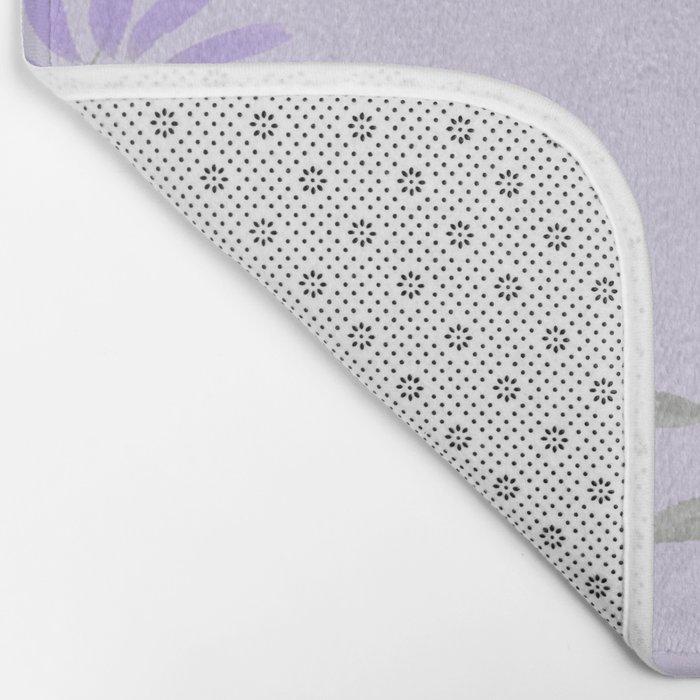 Floral Scroll Design - Purple and Lavender Bath Mat