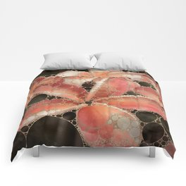 Percolated Tropical Flowers Comforters
