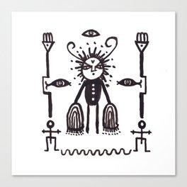 Grumpy Totem Canvas Print