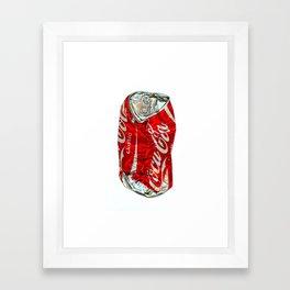 Pop Coke Framed Art Print