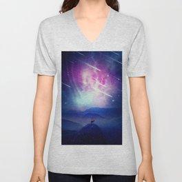 Majestic Cosmic Guardian Unisex V-Neck