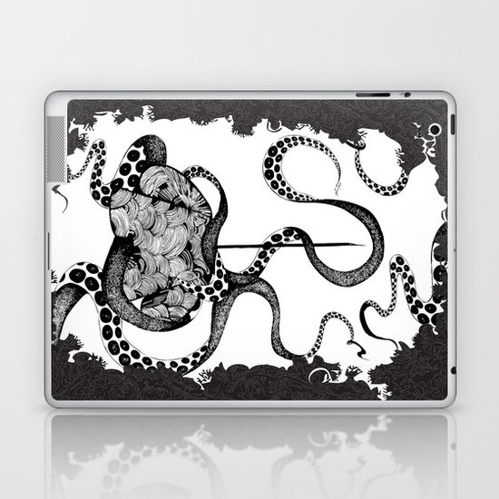 Octopus Munny Poster Laptop & iPad Skin