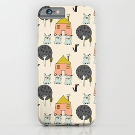 Tree Little Pigs iPhone Case