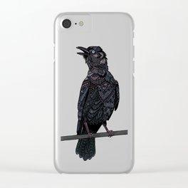 Verklempt Crow Clear iPhone Case
