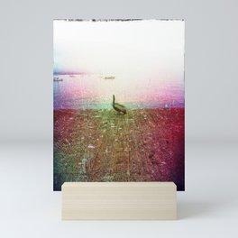 Santa Barbara Beach Pier Pelican Mini Art Print