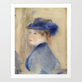 Bust of a Woman (Buste de femme) (1875) by Pierre-Auguste Renoir Art Print