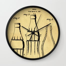 Bottle Support Patent Drawing From 1937 Wall Clock