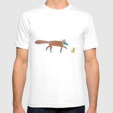 fox and the duck White Mens Fitted Tee MEDIUM