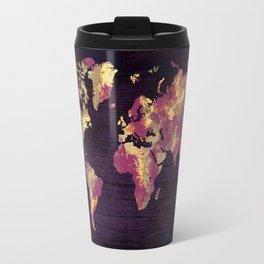 world map 86 red yellow Travel Mug