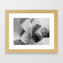 Beton Cross  Framed Art Print