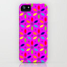 flowery magenta sheild iPhone Case