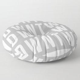 GREY BLOCK Floor Pillow