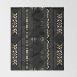 Southwestern Black Diamond Stripe Patterns Throw Blanket