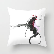 playful baby Throw Pillow