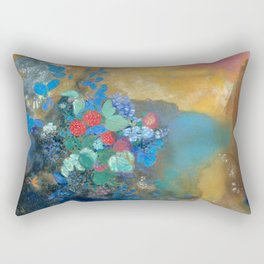 Ophelia among the Flowers by Odion Redon Rectangular Pillow