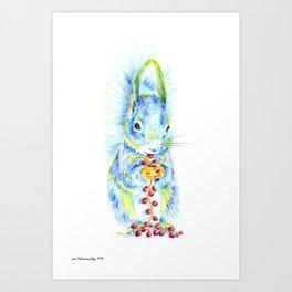 Forest Animals series - Squirrel Art Print
