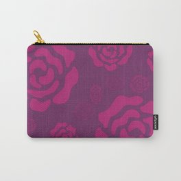 Plum Raspberry Roses Carry-All Pouch