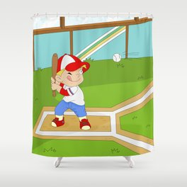 Non Olympic Sports: Baseball Shower Curtain