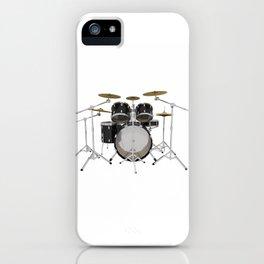 Black Drum Kit iPhone Case