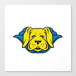 Super Yellow Lab Dog Wearing Blue Cape Canvas Print