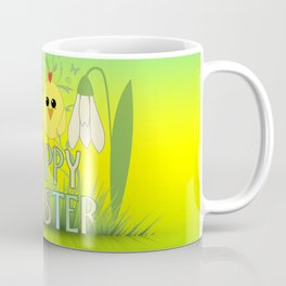Happy Easter Egg, Chick and Snowdrop Coffee Mug