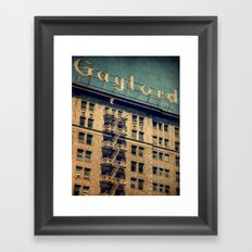 1924 Gaylord Apartments Vintage Neon Sign  Framed Art Print