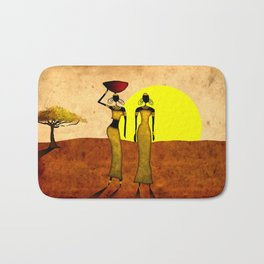 Africa retro vintage style design illustration Bath Mat