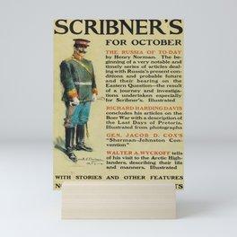 retro scribners for october. 1900  Mini Art Print