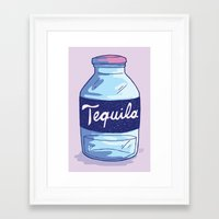 tequila Framed Art Prints featuring Tequila by - OP -