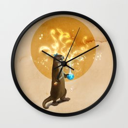 Otter Doing Science Wall Clock