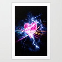 electric heart Art Print