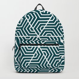 Midnight green (eagle green) - green - Geometric Seamless Triangles Pattern Backpack