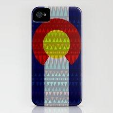 Colorado Flag/Geometric Slim Case iPhone (4, 4s)