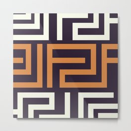African Tribal Pattern No. 51 Metal Print