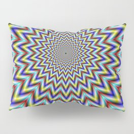 Pulsar in Red Yellow and Blue Pillow Sham