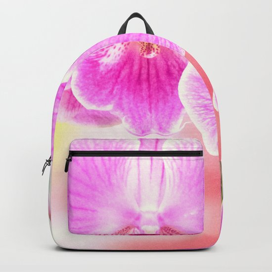 Close up Orchid #11 Backpack