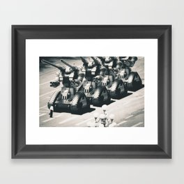 guntank man Framed Art Print
