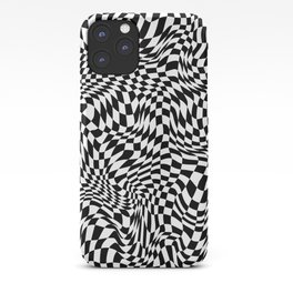 TIME MOVES SLOWLY (warped geometric pattern) iPhone Case