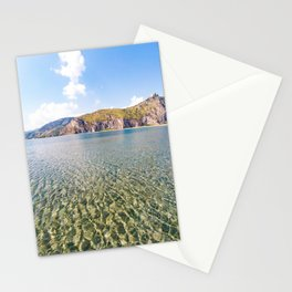Tourquoise water natural pool sea canvas poster of sea tindari sicily Stationery Cards