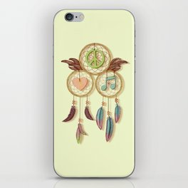 Peace, Love and Music iPhone Skin
