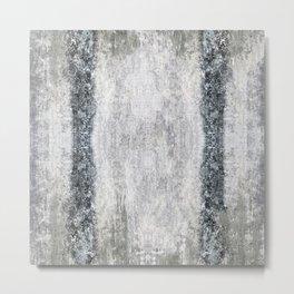 Shades of Grunged Gray Metal Print