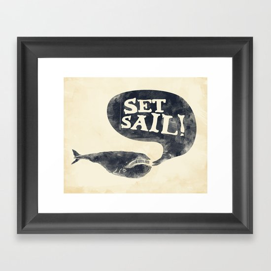 Set Sail! Framed Art Print