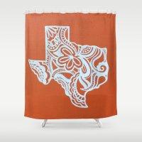 texas Shower Curtains featuring Texas by bkraftydesigns