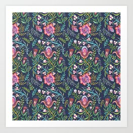 Folktale Pattern Art Print