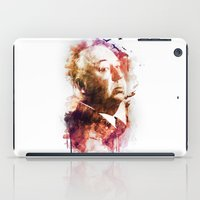 hitchcock iPad Cases featuring ALFRED HITCHCOCK by Elizabeth Cakovan