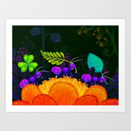 Delivery Ants Art Print