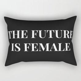The future is female black-white Rectangular Pillow