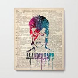 Aladdin on dictionary page Metal Print