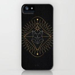 Tarot geometric #10: Wolf iPhone Case